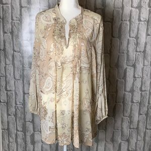 Susan Graver tunic length blouse